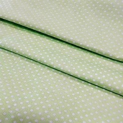 Отрез ткани бязь плательнаябелый горох на салатовом, 50*50 см - копия - фото 5251