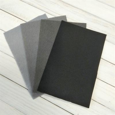 Набор жесткого фетра, размер 10х15 см, 4 шт., цвет серый микс - фото 7095