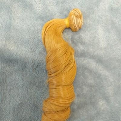 Трессы кукольные, длина 30 см, ширина 100 см, цвет золотистый, 1 шт. - фото 7180