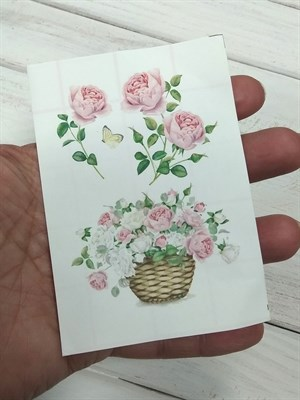 Термоналейка Розы 3, 7х10 см, 1 лист  - фото 7207