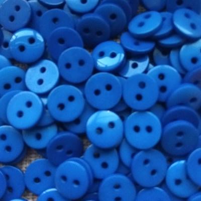 Пуговка декоративная диаметр 9 мм,  цвет синий, 20 шт. - фото 7629