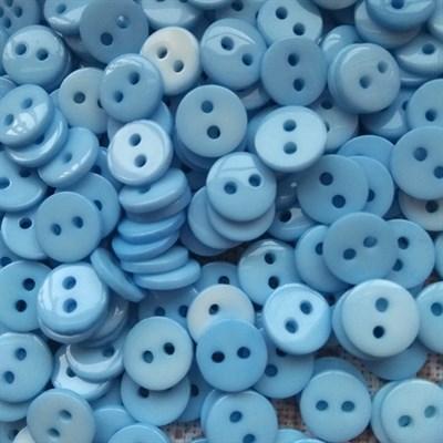 Пуговка декоративная диаметр 9 мм,  цвет голубой, 20 шт. - фото 7656