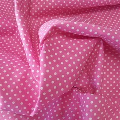 Отрез ткани бязь Горошки на малиновом, 50*50 см - фото 7705