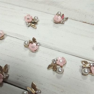 Заготовка для броши Цветок, цвет розовый, 1 шт. - фото 7804