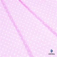 Отрез ткани бязь плательная 50*50 см 1590/2 цвет белый горошек на розовом