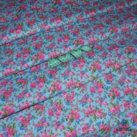 Отрез ткани бязь плательная 50*50 см 10461/4 (розочки на голубом)