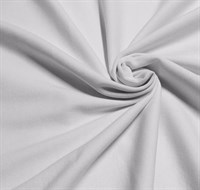 Отрез ткани 45*50 см рибана с лайкрой белый 1-50/3002С