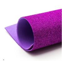 Глиттерный фоамиран 20х30, толщина 2мм, цвет пурпурный