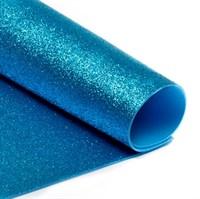 Глиттерный фоамиран 20х30, толщина 2мм, цвет бирюзовый