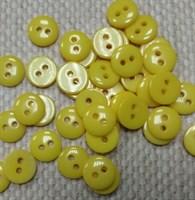 Пуговка декоративная D-9 мм цвет-желтый (5 шт)