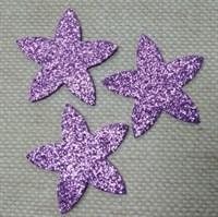 Цветочки из глиттерного фоамирана (упаковка-5 шт) сиреневые
