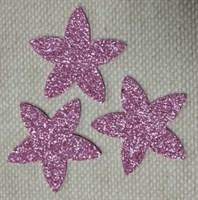 Цветочки из глиттерного фоамирана (упаковка -5 шт) розовые