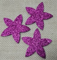 Цветочки из глиттерного фоамирана (упаковка -5 шт) пурпурные