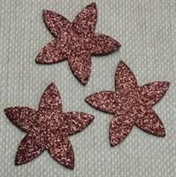 Цветочки из глиттерного фоамирана (упаковка -5 шт) коричневые