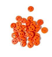 """Пуговицы """"Мини"""" на 2 прокола, 9мм, уп.5 шт. (пластик), цв.оранжевый"""