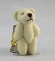 Игрушка. Мишка плюшевый - 4 см, цв. молочный