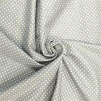 Отрез ткани бязь плательная 50*50 см Горох цвет серый