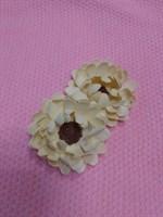Цветы из фоамирана - заготовки для брошей, заколок, 2 шт.