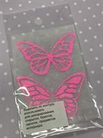 Набор украшений Бабочки розовый на белом Б-002