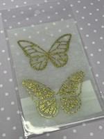 Набор украшений Бабочки золотой на кремовом Б-004