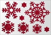 Термонаклейки Снежинки цветные, 1 шт.  ТА-002