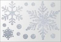Термонаклейки Снежинки цветные, 1 шт.  ТА-003