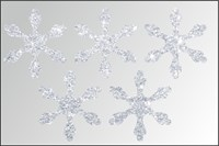 Термонаклейки Снежинки цветные, 1 шт.  ТА-008
