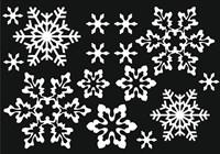 Украшения для окна из статической пленки (размер А4) Снежинки