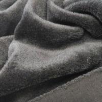 Бебисофт черный (с одной стороны мех, с другой трикотаж), 53х50 см