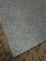 Фетр глиттерный 20х30см, 1,5 мм, цвет серебристый
