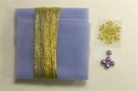 Набор для рукоделия № 5 сиреневый с золотом