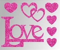 Термонаклейки глиттерные Любовь ТА-035, 115х95 мм