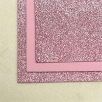 Глиттерный фоамиран 20х30, толщина 2 мм, цвет пыльно-розовый, 1 шт.