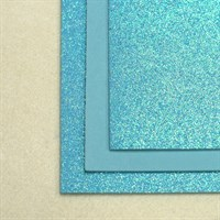 Глиттерный фоамиран 20х30, толщина 2 мм, цвет бирюзовый, 1 шт.