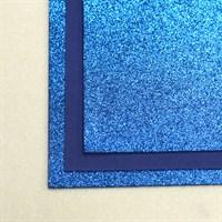 Глиттерный фоамиран 20х30, толщина 2 мм, цвет ярко-синий, 1 шт.