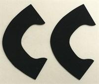 Набор для создания кукольных туфелек ТМ Сама сшила (верхняя часть) , цвет черный бархат