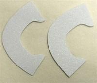 Набор для создания кукольных туфелек ТМ Сама сшила (верхняя часть) , цвет белый глиттер