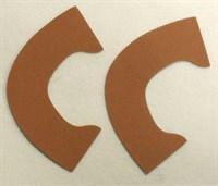 Набор для создания кукольных туфелек ТМ Сама сшила (верхняя часть) , цвет светло-коричневый бархат