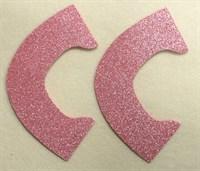 Набор для создания кукольных туфелек ТМ Сама сшила (верхняя часть) , цвет розовая карамель глиттер