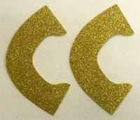Набор для создания кукольных туфелек ТМ Сама сшила (верхняя часть) , цвет холодное золото глиттер