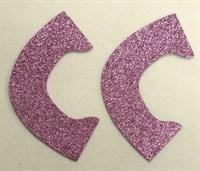 Набор для создания кукольных туфелек ТМ Сама сшила (верхняя часть) , цвет пыльный розовый глиттер