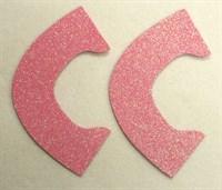 Набор для создания кукольных туфелек ТМ Сама сшила (верхняя часть) , цвет нежно-розовый глиттер