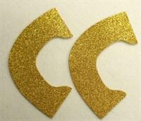 Набор для создания кукольных туфелек ТМ Сама сшила (верхняя часть) , цвет теплое золото глиттер
