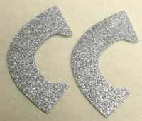 Набор для создания кукольных туфелек ТМ Сама сшила (верхняя часть) , цвет серебряный глиттер