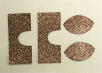 Набор для создания кукольных сапожек ТМ Сама сшила (верхняя часть) , цвет коричневый глиттер