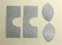 Набор для создания кукольных сапожек ТМ Сама сшила (верхняя часть) , цвет серебряный глиттер