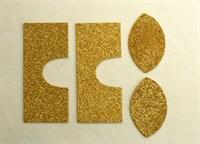 Набор для создания кукольных сапожек ТМ Сама сшила (верхняя часть) , цвет теплое золото глиттер