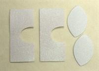 Набор для создания кукольных сапожек ТМ Сама сшила (верхняя часть) , цвет белый глиттер