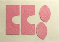 Набор для создания кукольных сапожек ТМ Сама сшила (верхняя часть) , цвет нежно-розовый глиттер