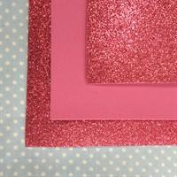 Глиттерный фоамиран 20х30, толщина 2 мм, цвет темно-розовый, 1 шт.